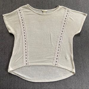 h&m white sheer boho embroidered top